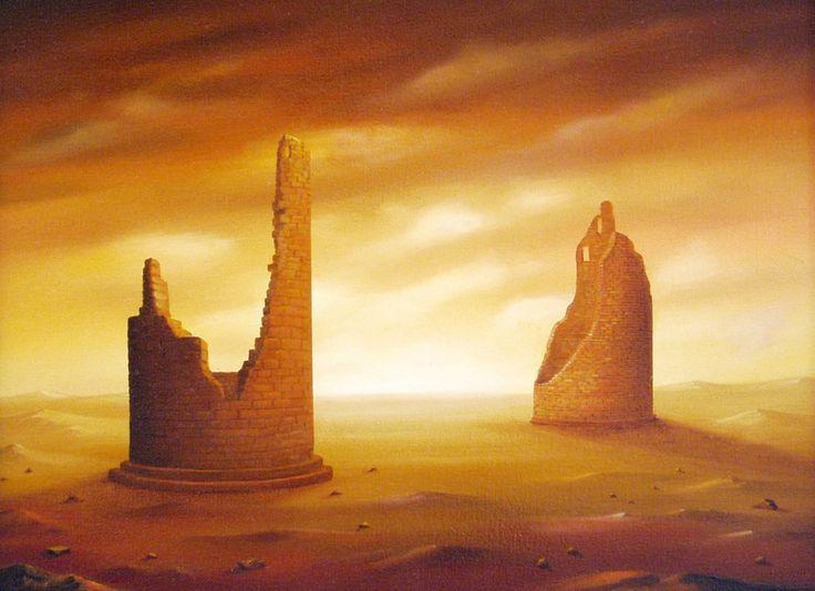 Landscape of two towers / Krajina dvou věží
