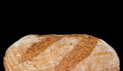 Kváskový chlieb s kúskami tekvice
