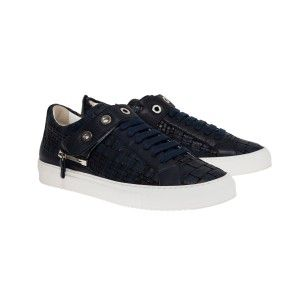 Edward in blue woven leather with matched strap