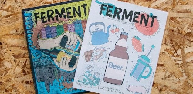 Ferment Magazine by Beer52 | An Interview With Its Creators | Font in use: Brush Up
