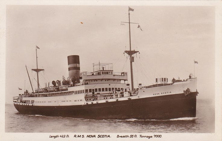 rp steamer r m s nova scotia canada 1920 40s ship. Black Bedroom Furniture Sets. Home Design Ideas