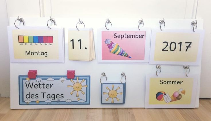 Mobile, flexible calendar – elementary school