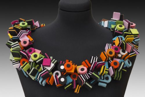 Felt candy necklace.