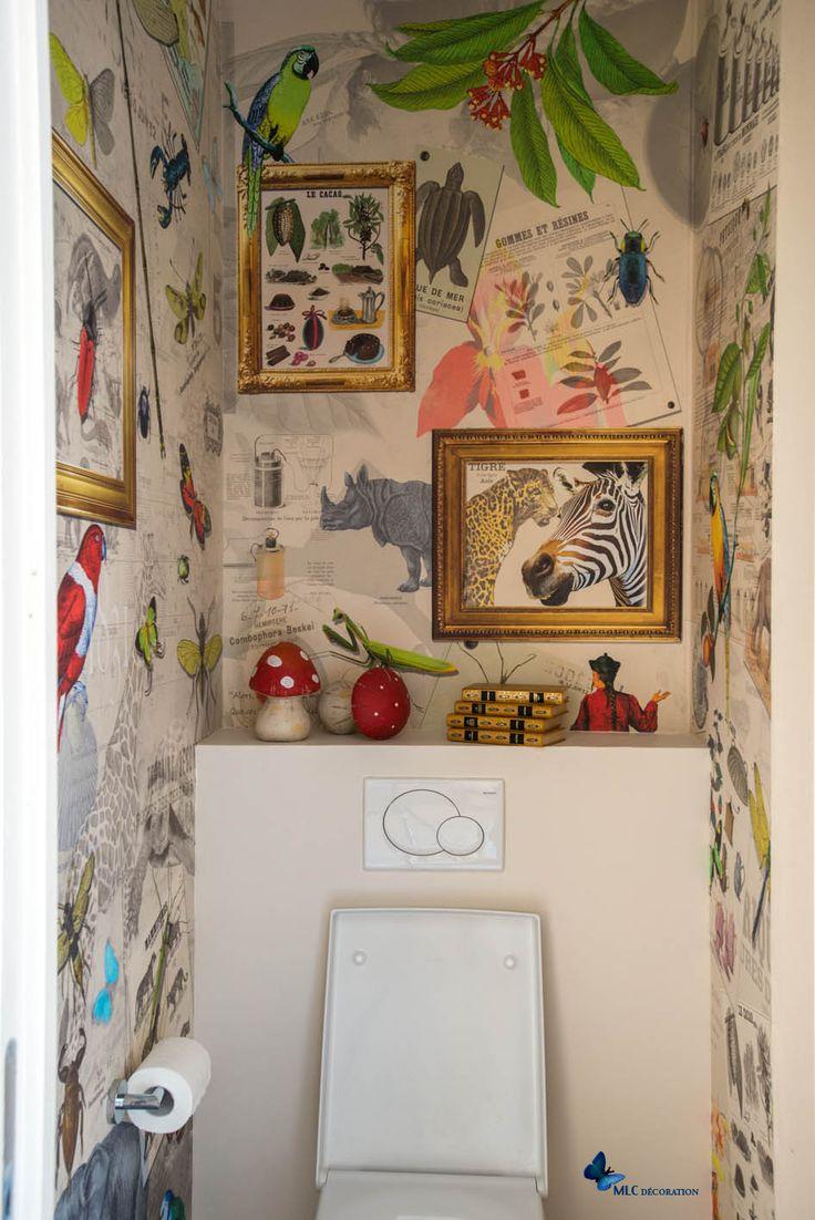 17 Best Ideas About Papier Peint Toilette On Pinterest Deco Wc Toilette Noire And Papier