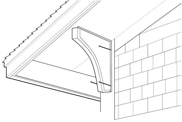 Best 25 Roof Brackets Ideas On Pinterest Metal Awning