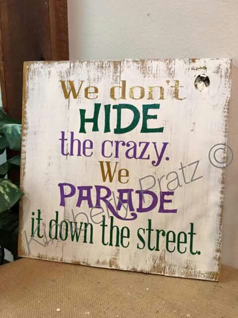 Mardi gras hide crazy