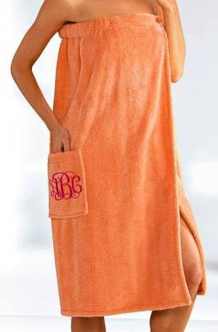 Monogrammed Towel Wrap. Spa Wrap. Bridesmaid by GecesGiftShop, $32.99