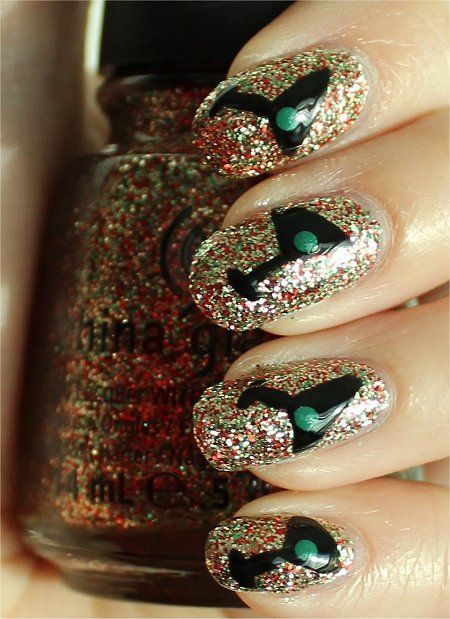 But reverse the colors...can u do it with a dark background and a glitter wine glass?? Must try...