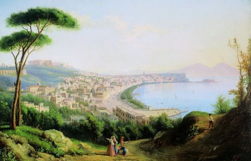Sylvester Shchedrin View of Naples from the road in Pozilippo. 1829