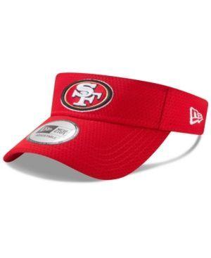 New Era San Francisco 49ers Training Visor - Red Adjustable