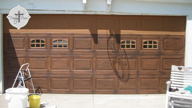 39 best faux wood garage doors diy images on pinterest for Build carriage garage doors