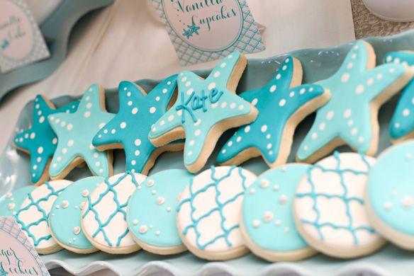 mermaid starfish cookies