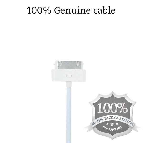 100% Genuine Apple Sync & Charger USB Data Cable For  iPhone 4 4S iPad 2 & iPod