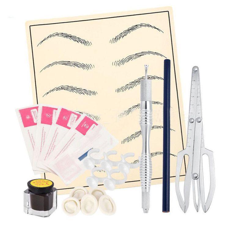3D Makeup Eyebrow Microblading Permanent Tattoo CaliperPen Pigment Needles Kit | Health & Beauty, Tattoos & Body Art, Tattoo Supplies | eBay!