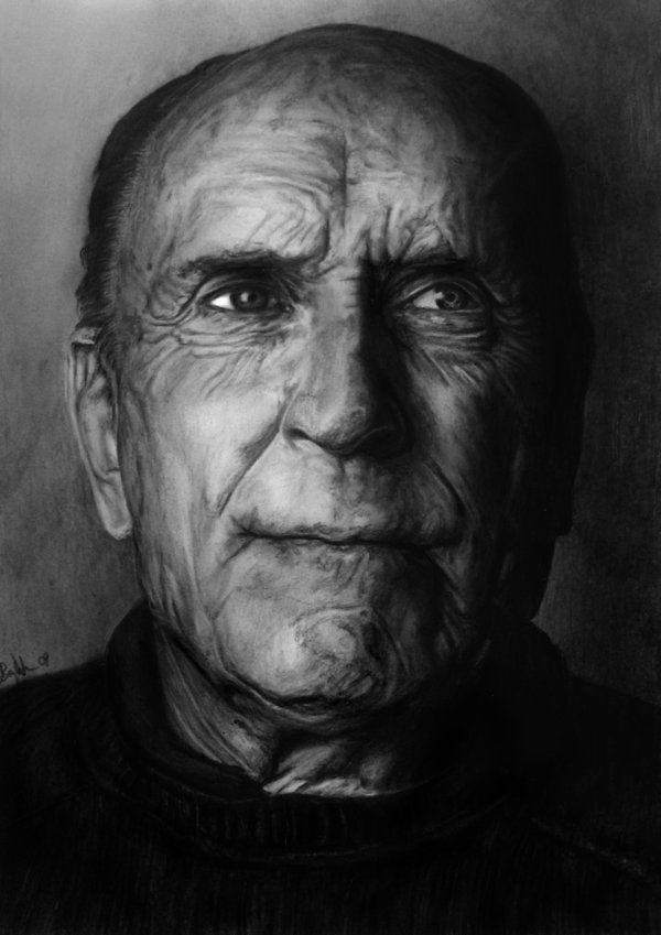 "Every time I see his face I burst into tears. The ""this world is so beautiful and I love the human race"" kind of tears.. which are the kind that I sometimes crave. But who cares about how I feel about it. This drawing of Robert Duvall is good."