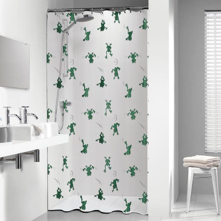Net als uw woonkamer en slaapkamers, verdient uw badkamer ook een eigen 'touch'. Met de uitgebreide collectie douchegordijnen kunt u uw badkamer omtoveren tot een oase van reinheid en rust. Maar ook liefhebbers van drukke patronen of mooie teksten kunnen hun hart ophalen en kiezen uit de grote collectie douchegordijnen van De Gordijnspecialist. Er zijn twee soorten materialen verkrijgbaar, namelijk een textiel douchegordijn en een Peva kwaliteit. Groene kikkers.