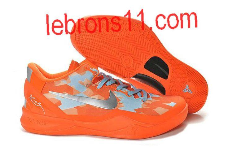 Kobe 8 Girls Orange Silver Basketball Shoes for Womens