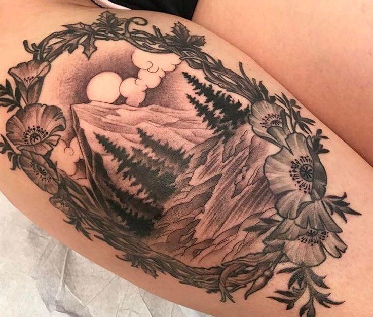 California inspired tattoo by Kim Saigh at Memoir Tattoo