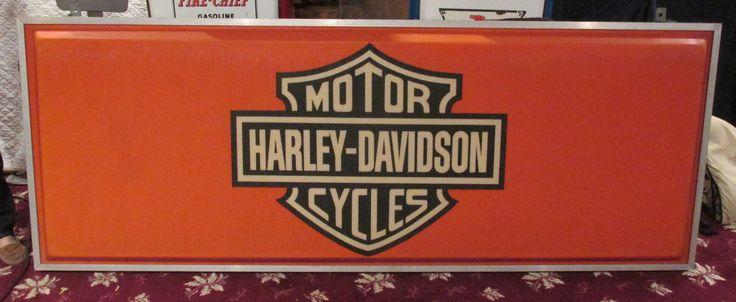 Original Harley Davidson Dealership Lighted Sign Vintage Dealer Motorcycle HUGE
