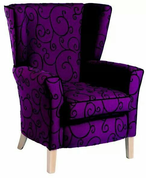 Purple wingback chair                                                                                                                                                      More