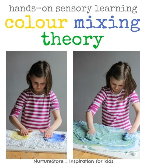 Color mixing activities : hands-on learning with sensory play