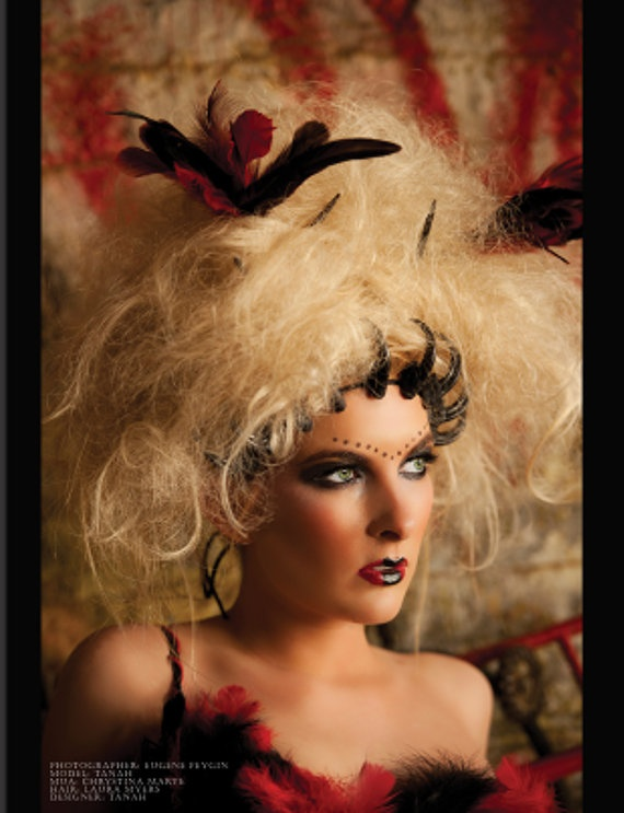 Morrigan, Celtic goddess of war- she likes ravens- so I thing this headpiece would work...