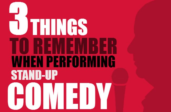 Comedy is a Veiled Attack  You're attacking someone or something. Even yourself. The basic rule about attacking is: Always attack up. What this means is that in our society an audience roots for the underdog. If you are a white male and you are making jokes about a minority, it is technically attacking  . . . → Read More: 3 Vital Things To Remember When Performing Stand-up Comedy