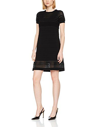 timeless design ac1a8 e3a89 Twin Set PS8362 Vestito Elegante Donna Nero Small (Taglia ...
