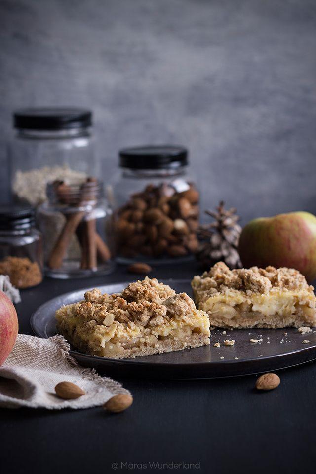 Veganer Apfel Pudding Streuselkuchen Spon Post Rezept Blogger