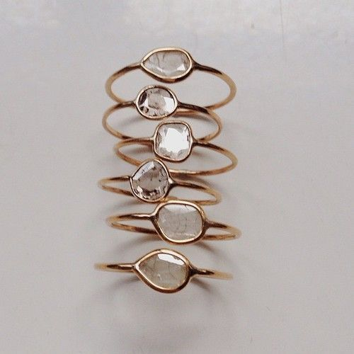 Diamond Slice Rings | Vale Jewelry // @alaViky - these are pretty!!