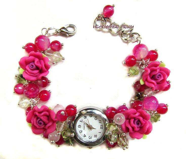 """Купить """"Канкан"""" наручные часы - часы, розовые часы, часики, женские часы, часы-браслет"""