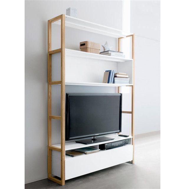 39 best meuble tv bibliotheque images on pinterest tv. Black Bedroom Furniture Sets. Home Design Ideas