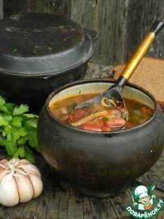 Суп с фасолью и грибами