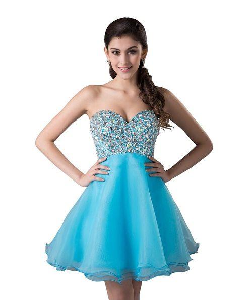 Short Corset Purple Prom Dresses
