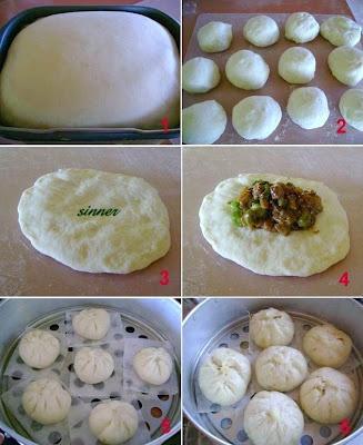 Char Siew Pau ~ Steamed Barbecue Pork Bun