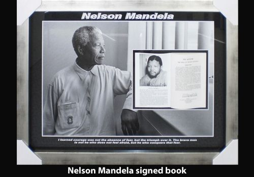 Nelson Mandela signed book