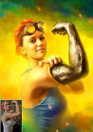 L'arte con photoshop: la donna diventa bionica
