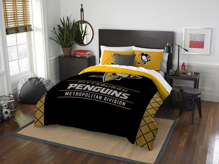 Pittsburgh Penguins Nhl Draft Full Queen Comforter Set