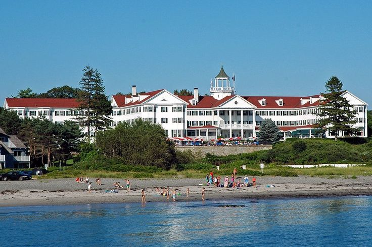 The Colony Hotel, in Kennebunkport, Maine, was designed by architect John Calvin Stevens and opened in 1914. The classic New England hotel is perched on a prime spot overlooking the Atlantic Ocean. From $189/night; colonymaine.com