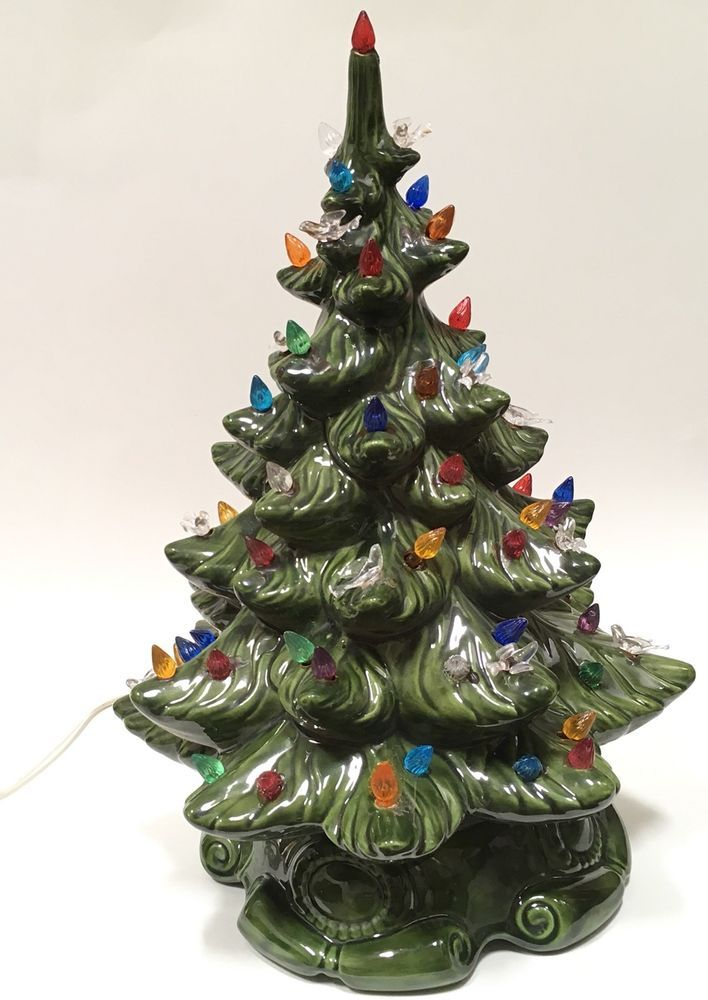 Details About Atlantic Mold Ceramic Christmas Tree Lights Birds 17