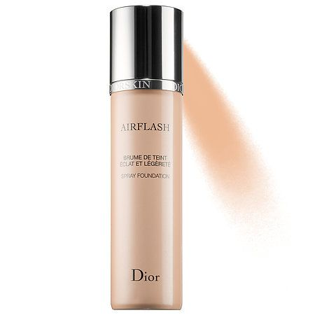 It gives your face a super glam look, which is great for a night out or a photoshoot. Even though it's a more glam foundation, it is super lightweight.// Diorskin Airflash Spray Foundation - Dior | Sephora