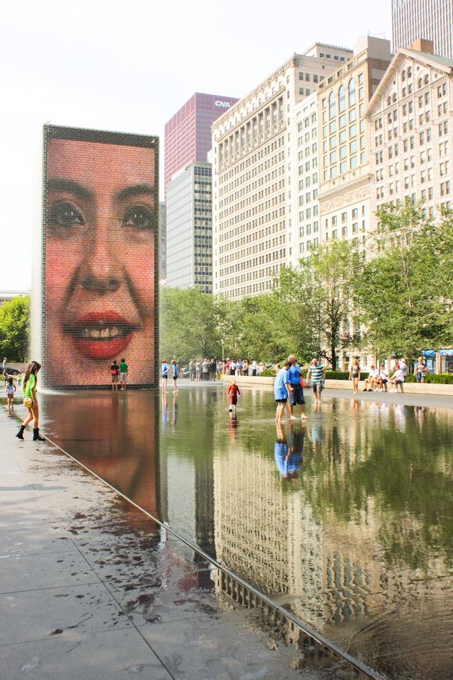Crown Fountain by Jaume Plensa in Millennium Park #chicago