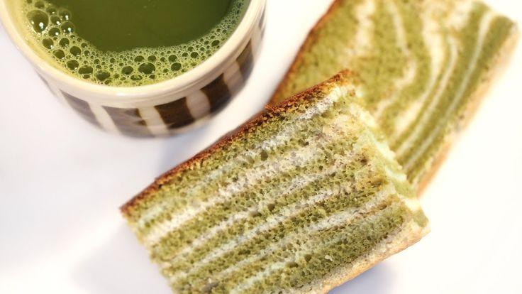 Green Tea Castella (Kasutera) Marble or Zebra Japanese Sponge Cake Recipe