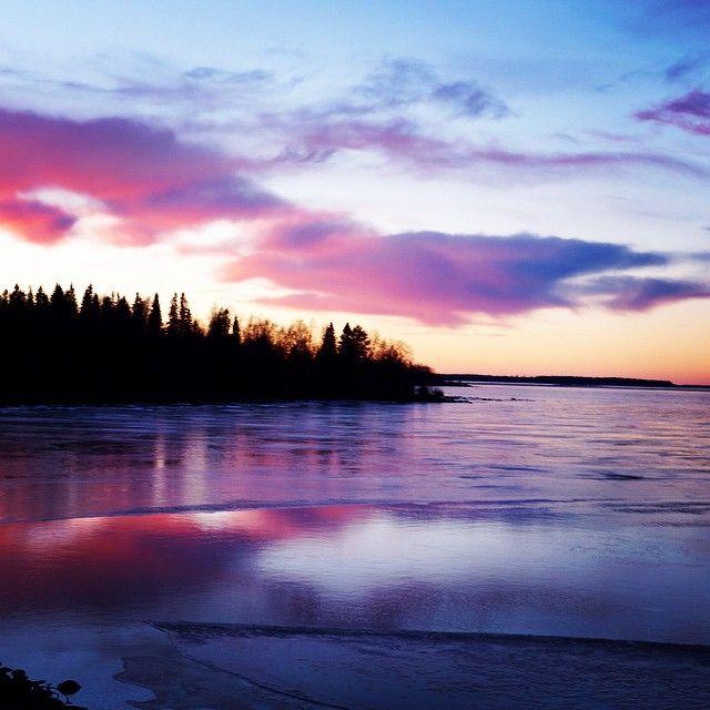 Puesta de sol en el Báltico
