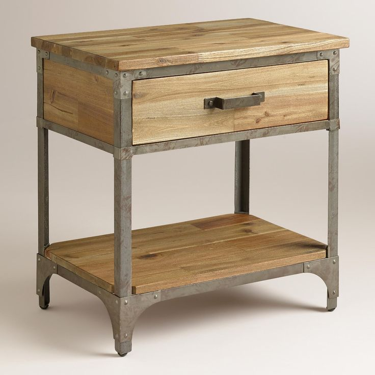 1000 images about urban industrial home decor on for Metal night stands bedroom