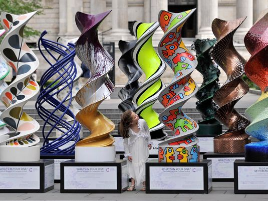 These thought-provoking DNA sculptures were created for Cancer Research UK - discover how they were made.