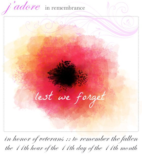 """{ the jaunty magpie } """"Lest we forget"""" Wishing all a day of remembrance for Armistice Day/Veteran's Day, a brief history of the 11/11 meaning, and the significance of the red poppy."""