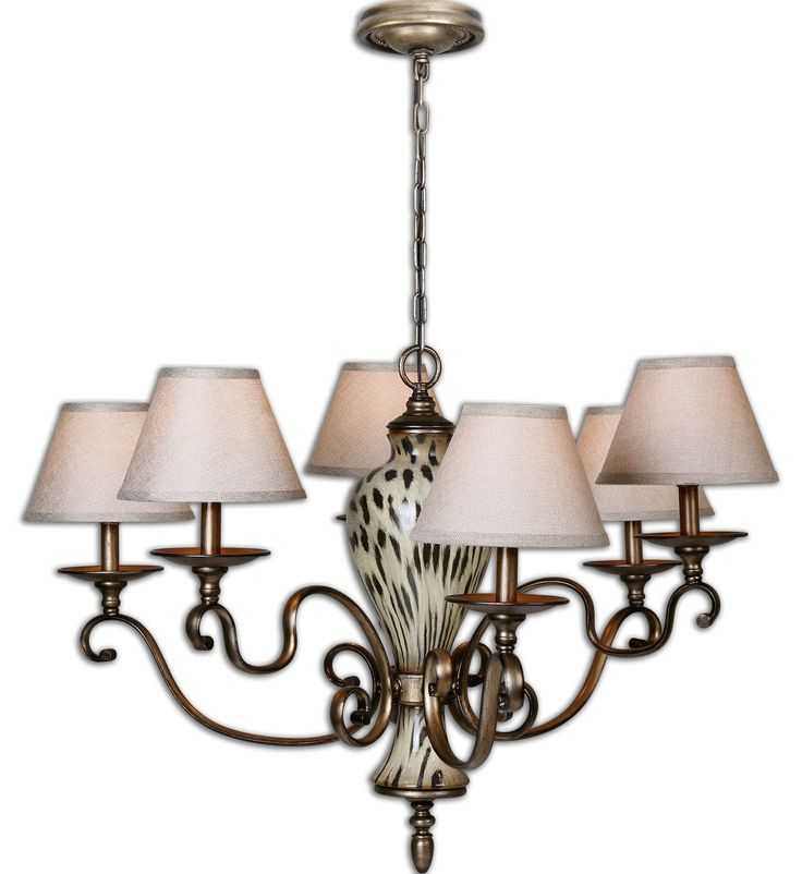 Uttermost Malawi 6 Light Chandelier 21247