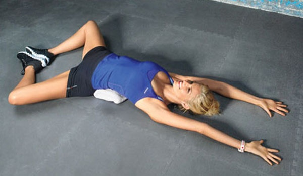 Great post run or walk stretch: open up your inner thighs, lower back and chest with this pose!