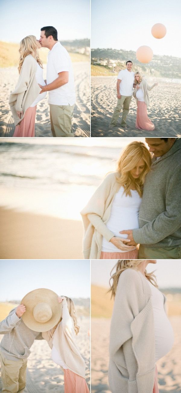 """Pregnancy photo shoots are usually awkward   and cheesy, but These are sweet pictures. And it goes with my beach """"theme""""   thing I have going. I did my pregnancy reveal at the beach so it kind of seems   fitting to do beach maternity shots :)"""
